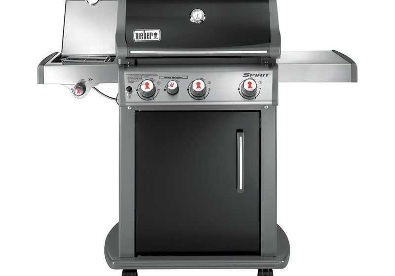 46810001BA 2016 Weber Spirit E330 Gas Grill Black LP Product Straight On